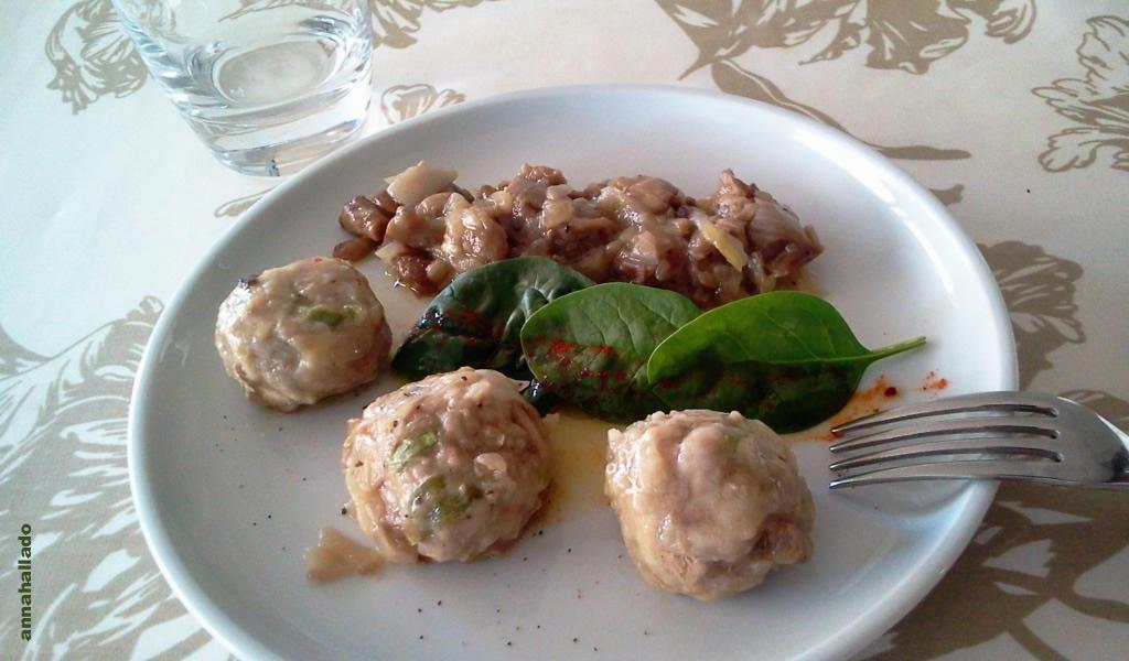 Alb ndigas de ternera y pollo con vegetales y - Acompanamiento para albondigas ...