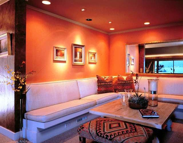 Paint color ideas for living room accent wall - Living room multi color paint ideas ...