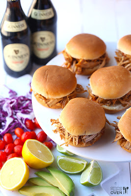 Guinness Pulled Pork Sliders