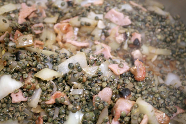 Green Lentil and Bacon Soup by What Laura did Next