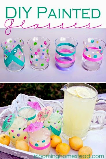 DIY Painted Glasses @ Blooming Homestead