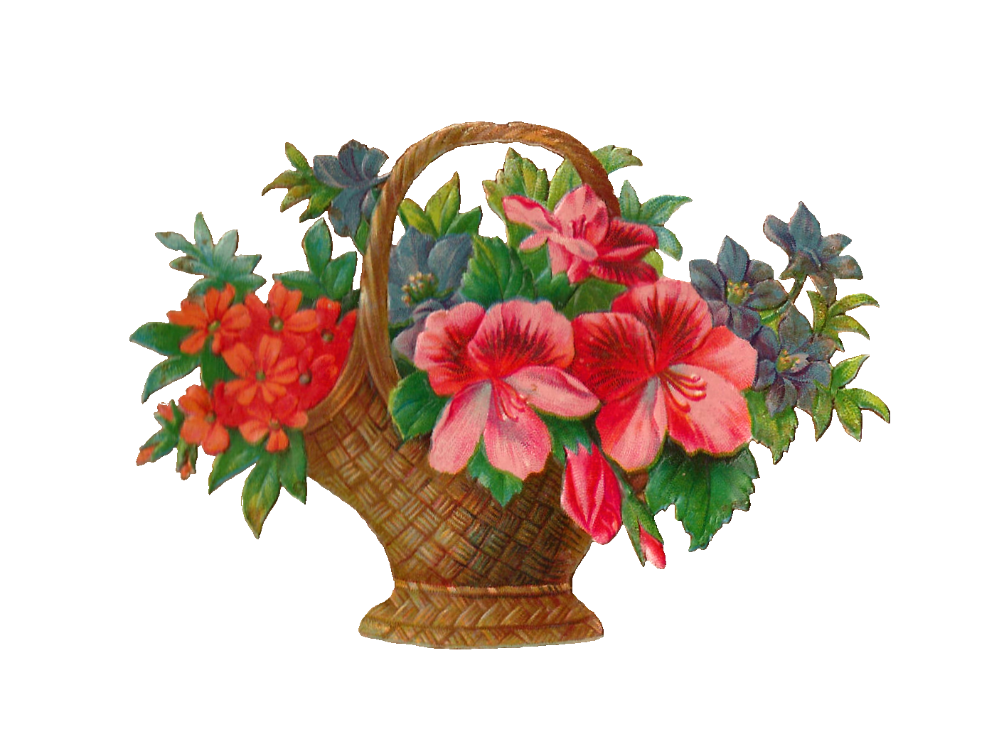 Flower Baskets Photos : Antique images free flower stock image