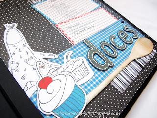 caderno de receitas personalizado scrapbook tema butiquim