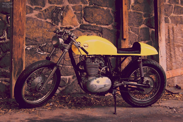 BSA 500 SS Cafe Racer | BSA Cafe Racer | BSA 500 SS  BSA 500 SS Cafe Racer Started life as a dual purpose classic British scrambler, a BSA 500SS – up-swept exhaust,