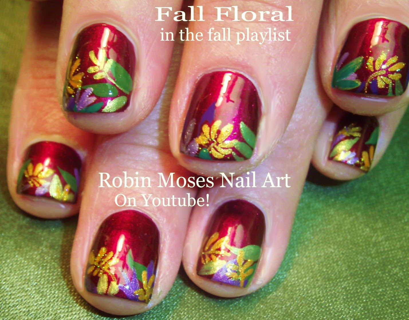Nail Art By Robin Moses Thanksgiving Nails Thanksgiving Nail Art