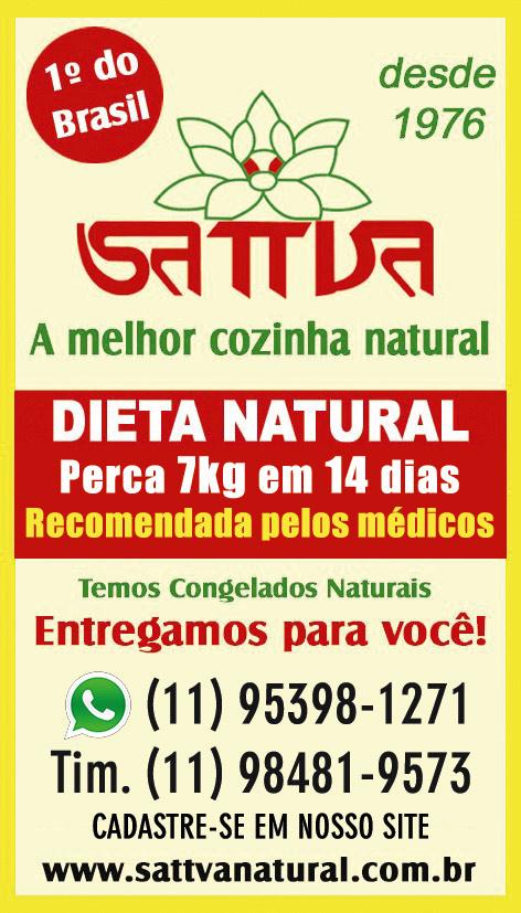 Restaurante Sattva Natural vegetariano desde 1976 - MAIS ANTIGO DO BRASIL