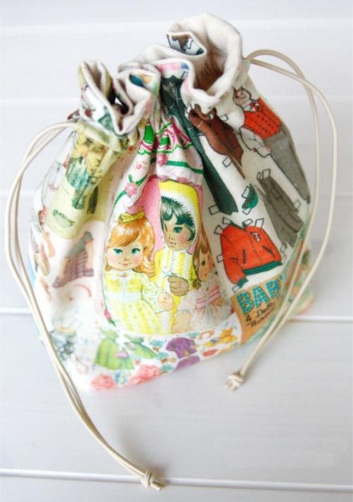 Drawstring fabric gift bag tutorial diy ideas