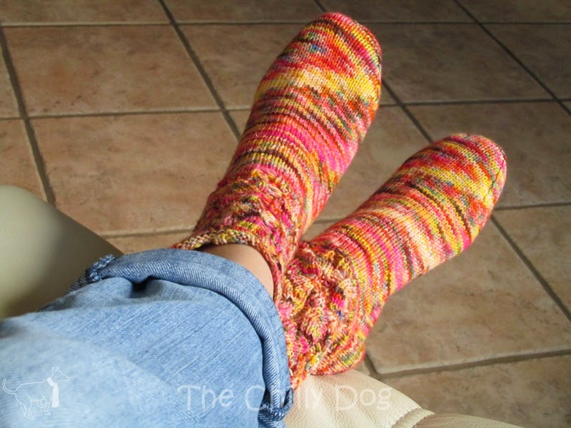Made these socks with yarn from Kookaburra Yarns on Etsy. I just love the colors!