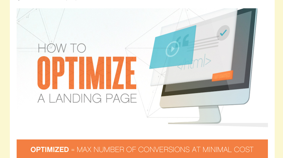 Optimizing Landing Page Of Website [ Infographics ]