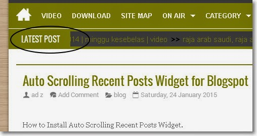 Auto Scrolling Recent Posts Widget for Blogspot