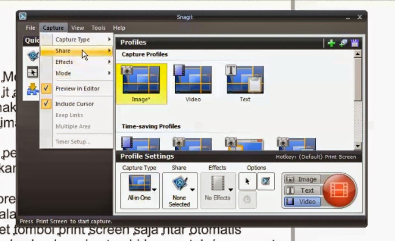 Cara Screen Capture Video dengan Menggunakan Snagit