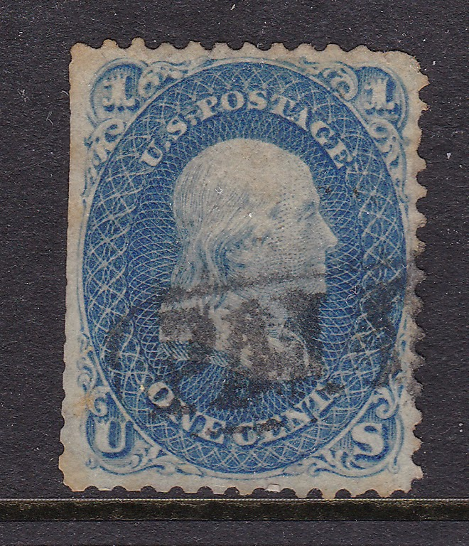This Benjamin Franklin 1 Cent Stamp Was The First US Printed To Replace All Other Postage In 1861 Offered On A 7 Day Auction Beginning 10 3 13