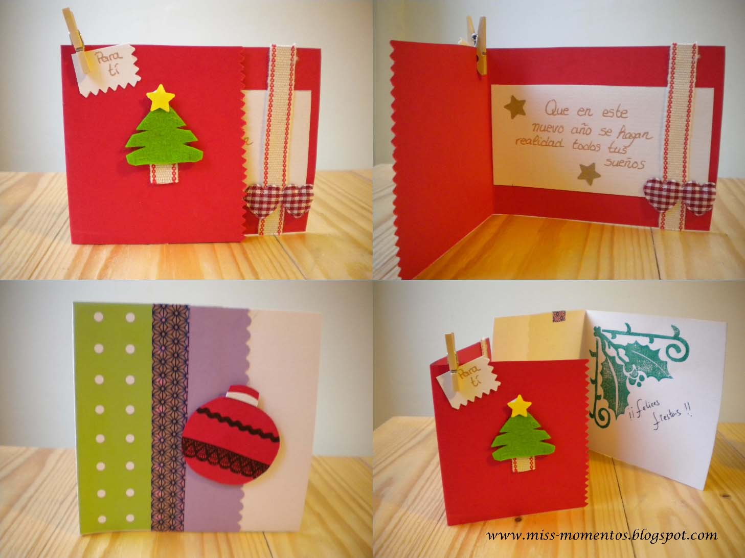 Miss momentos scrapbooking y como hacer tarjetas navide as - Hacer una tarjeta navidena ...
