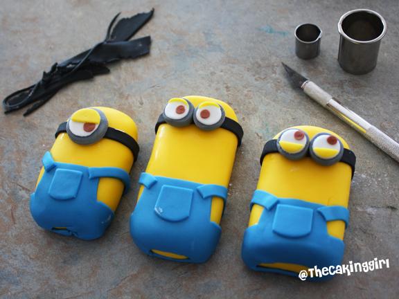 Fondant Minion Cake Toppers