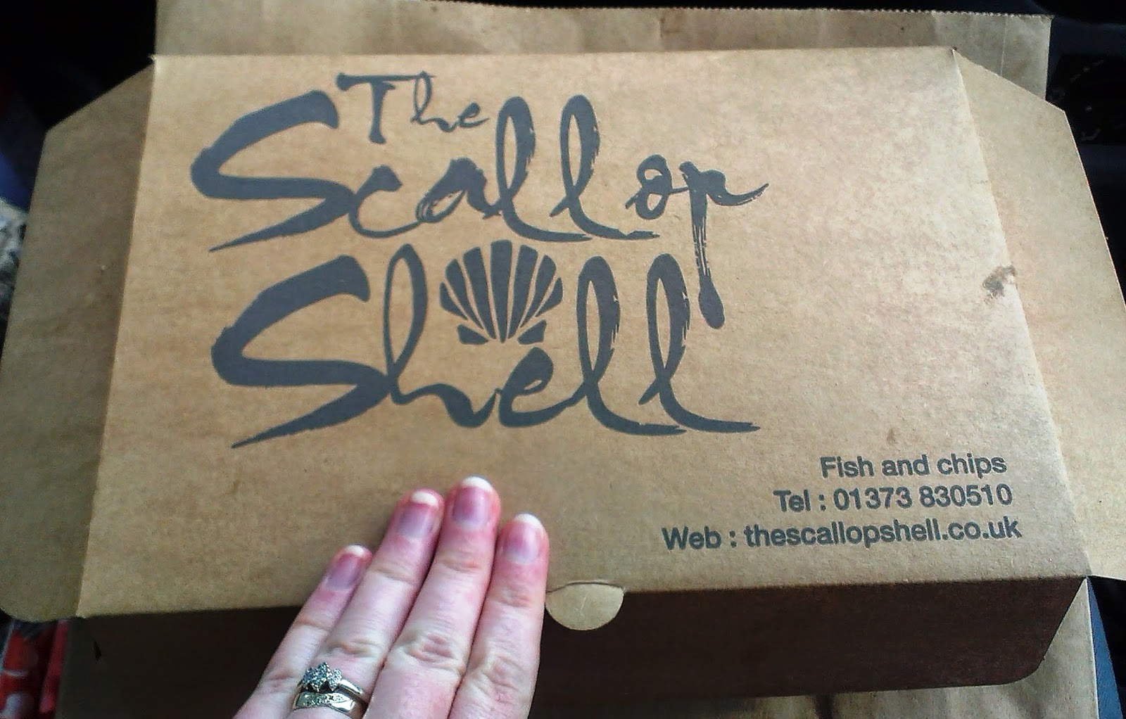 The Scallop Shell chip shop box
