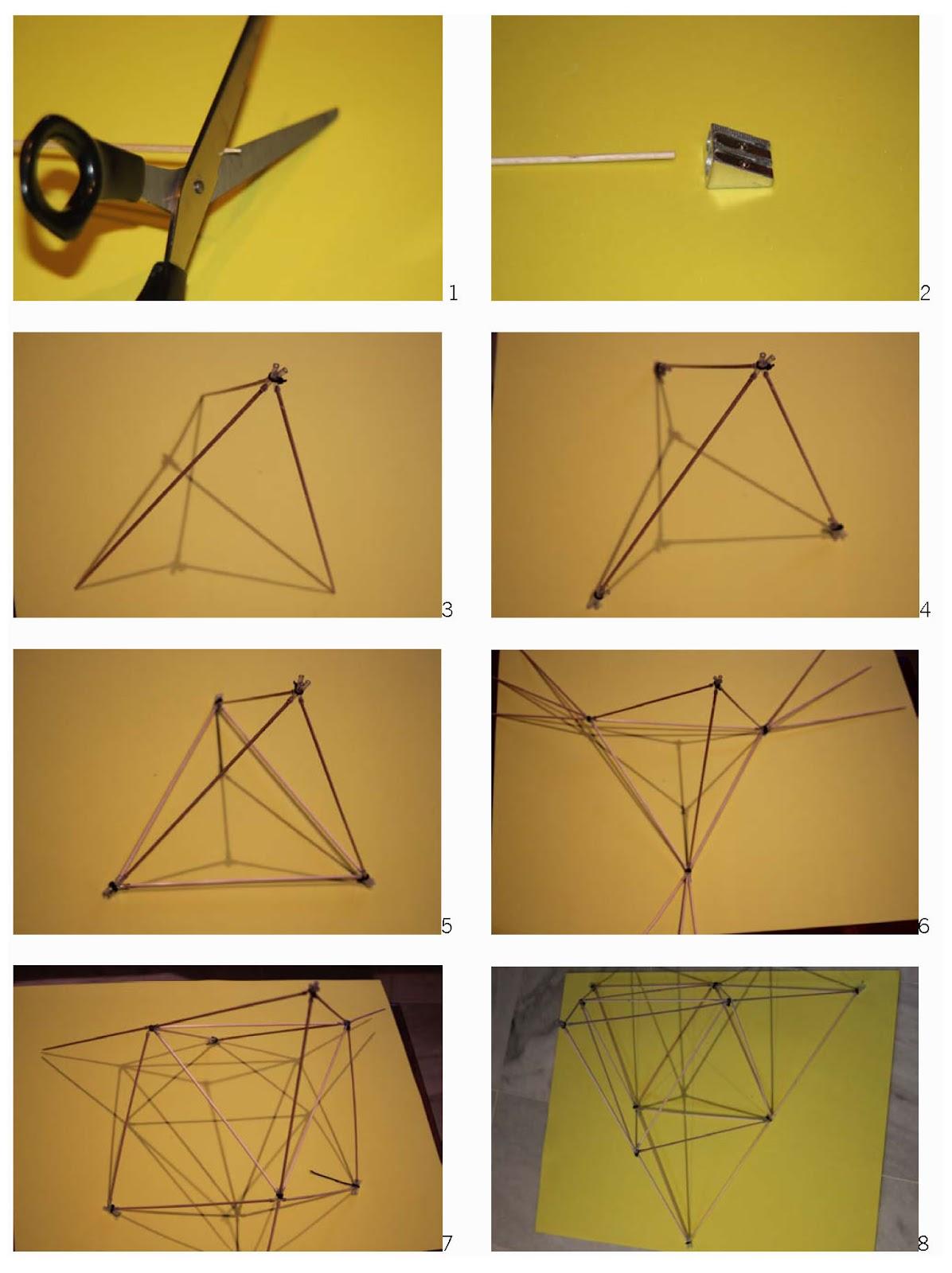 Cometas tetraedricas - Como hacer una cometa paso a paso ...