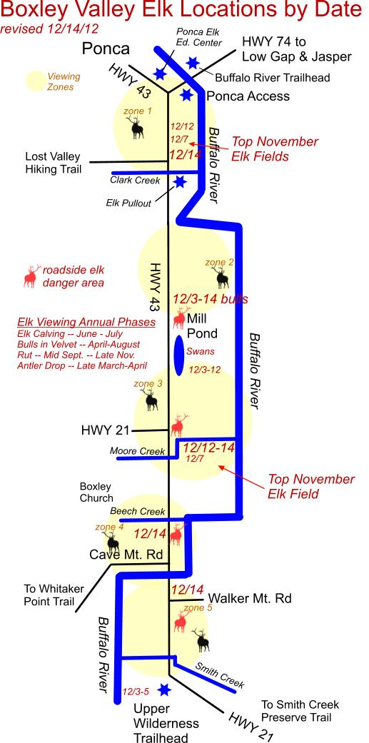 12/14/12 Elk Herd Location Map