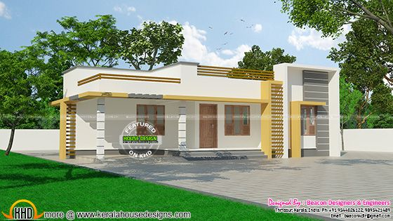 120 sq m small budget kerala home kerala home design and for Small budget house plans in kerala