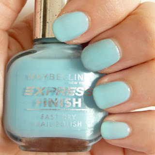 Maybelline Express Finish Nail Polish Swatch in Ocean Blue