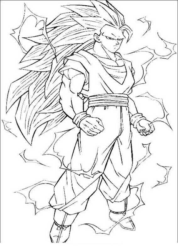 COLOREA TUS DIBUJOS: Goku Super como Sayayin fase 3 para colorear