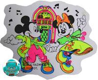 Старый набор наклеек Микки Маус советский перестройка СССР Наклейка Микки Мауси Минни Майс музыкальный автомат