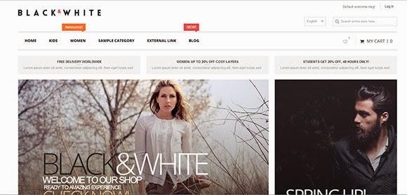Black&White – Responsive & Retina Magento Theme