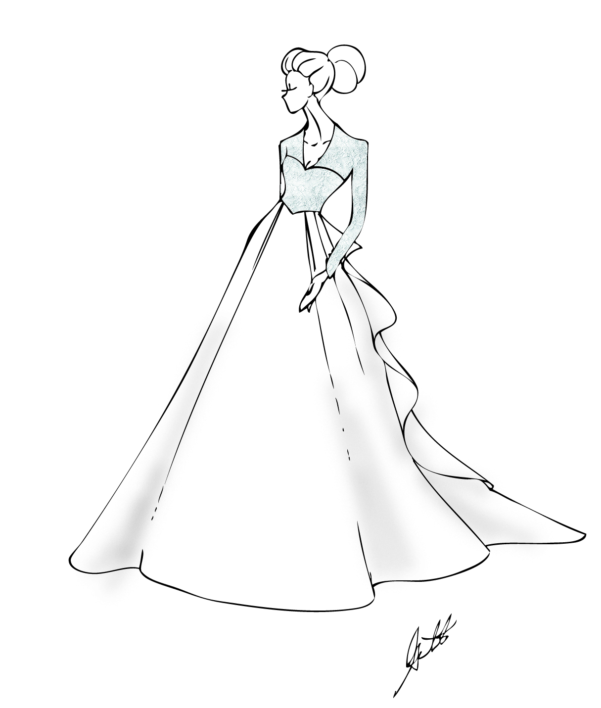 Wedding dress coloring pages easy along with worksheet english jobs