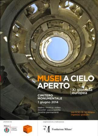 musei a cielo aperto, domenica 1 giugno eventi ed iniziative gratuite al Monumentale di Milano