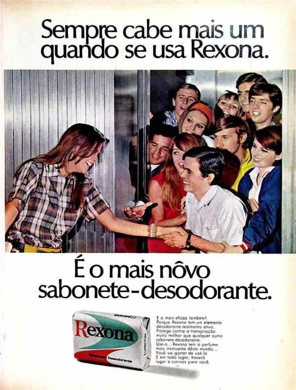 Campanha do sabonete-desodorante Rexona no final dos anos 60.