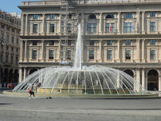 Plaza Genoa Fountain