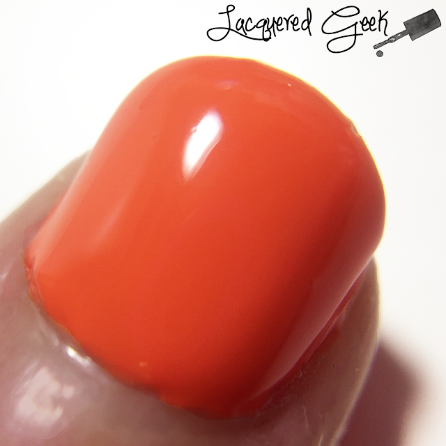 Sally Hansen Sun Kissed nail polish swatch macro by Lacquered Geek