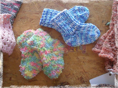 Free Knitting Patterns Babies : Ajeng Belajar Merajut: Rajut Free Knitting Pattern : Newborn baby socks