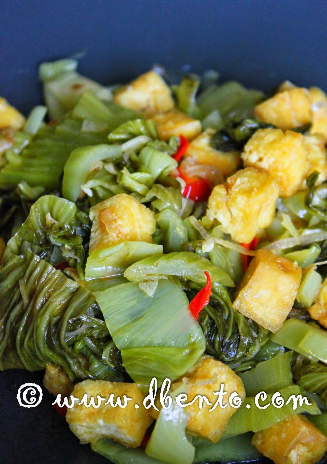 cara memasak sayur asin tumis tahu dan ebi