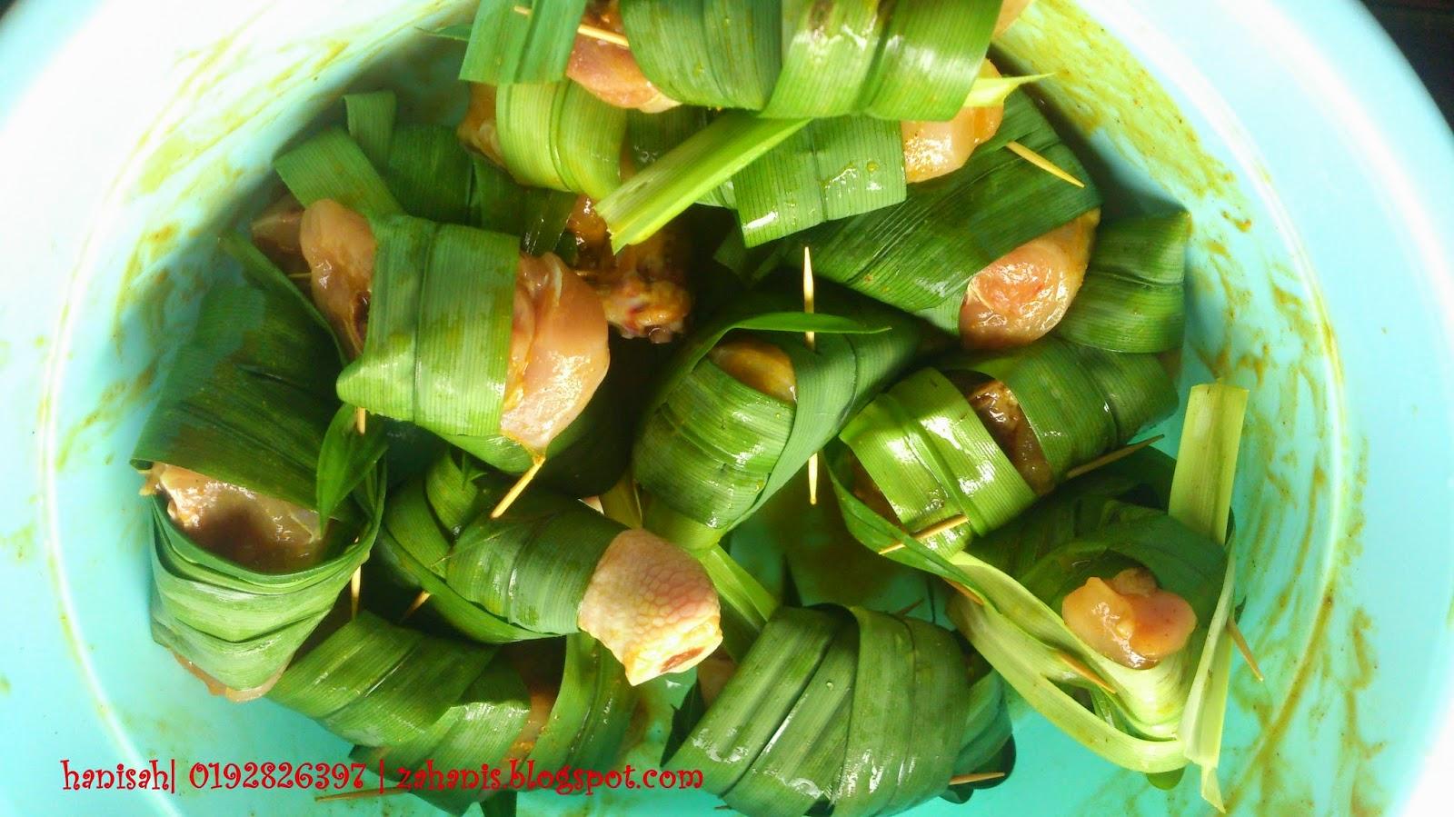 ayam goreng balut daun pandan