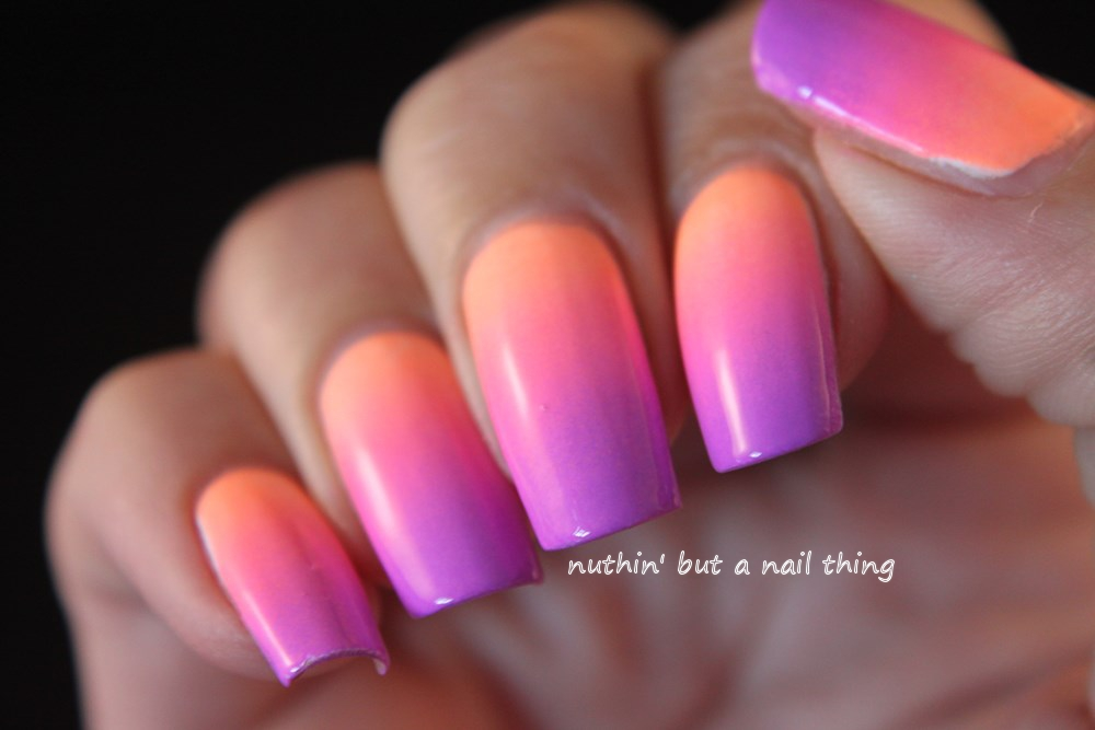 nuthin\' but a nail thing: Pastel neon gradient nail art