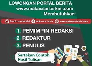 Lowongan Kerja Portal Berita Makassar