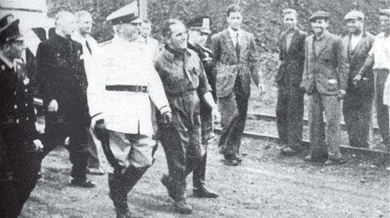 Garganistan Gargano Miniera Montecatini San Giovanni Rotondo Visita di Benito Mussolini