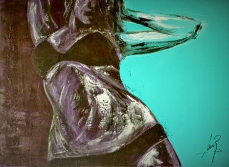 Mamá Mala III. Acrílico 2013. 60x81cm
