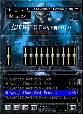 Skin Winamp Avenged Sevenfold Keren