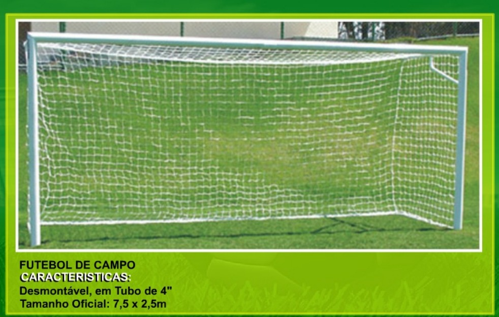 100% Impacto Sports Center  Trave de Futebol de Campo Oficial (PAR ... 7bdaec5cb3dd4