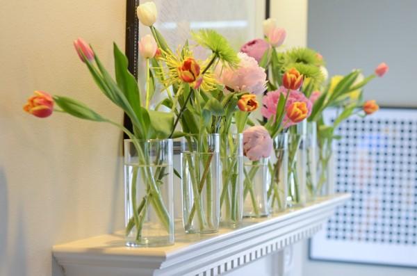 Cắm hoa trang trí phòng khách 12