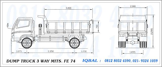 karoseri dump truck 3 way   mitsubishi colt diesel fe 74
