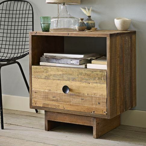 DIY West Elm Pallet Wood Nightstand
