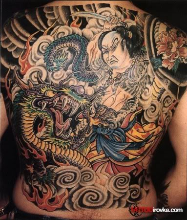 Tattoo kamasutra yakuza tattoo trend for Back mural tattoo designs