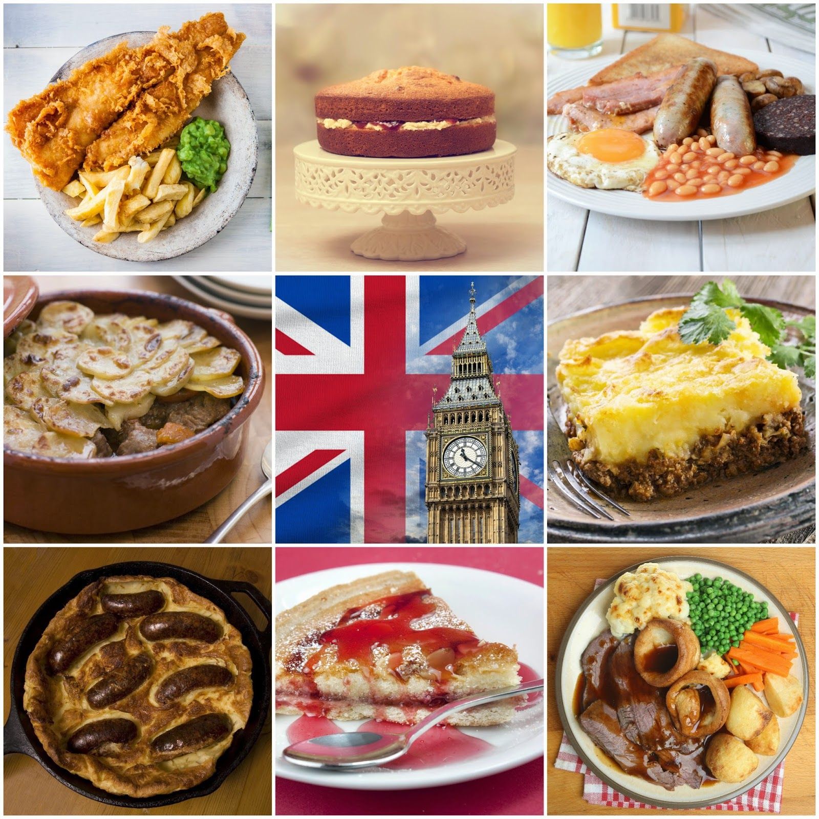 Traditional English Foods And Drinks
