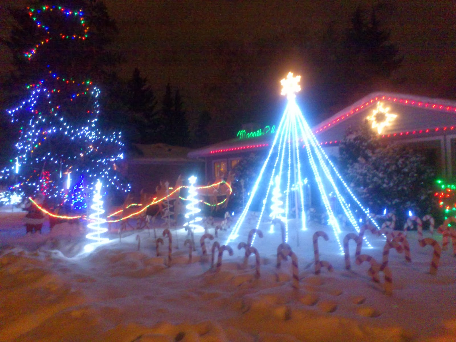 image of a decorated house on Candy Cane Lane in Edmonton.