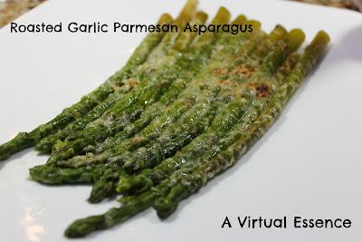 Virtual Essence: Roasted Garlic Parmesan Asparagus