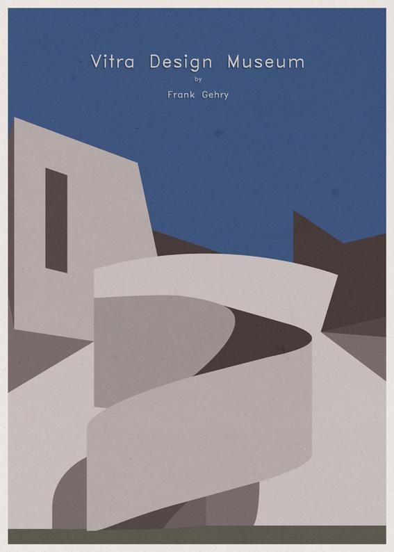Vitra Design Museum - Frank O. Gehry - Posters de Arquitectura Minimalistas de André Chiote