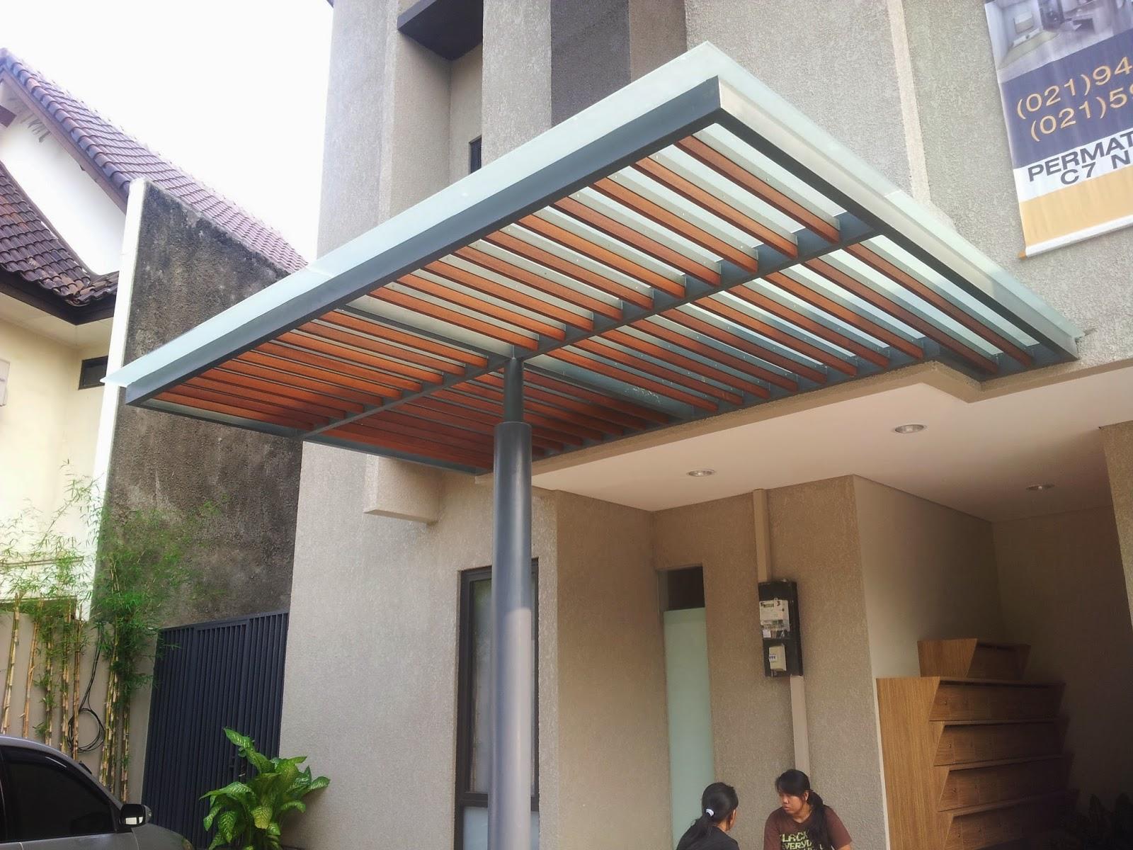 buat canopy rumah garasi teras parkiran pancang jaya
