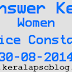 Women Police Constable Exam Answer Key 30-08-2014